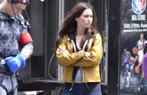 Megan Fox on the set of 'Teenage Mutant Ninja Turtles'  Featuring: Megan Fox Where: New York City, NY, United States When: 20 May 2013 Credit: TNYF/WENN.com