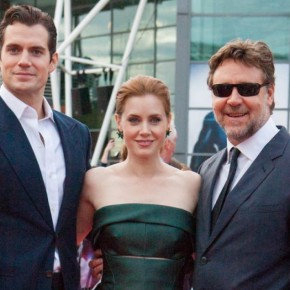 "Amy Adams, Henry Cavill & Russell Crowe ""Man of Steel"" UK Taormina Filmfest 2013 Tours"