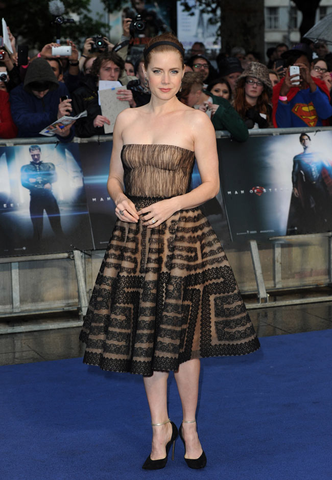 Amy Adams Man Of Steel Premiere Amy Adams Dons Valentino At
