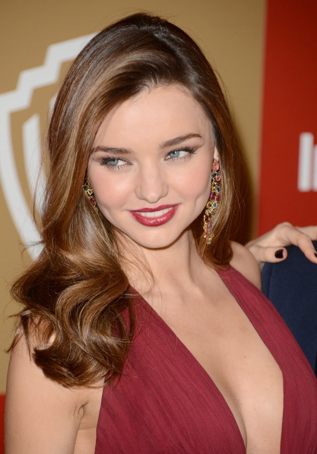 MIRANDA KERR at Warner Bros InStyle Golden Globes Party