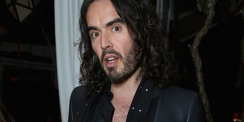 LOS ANGELES, CA - FEBRUARY 23: Actor Russell Brand attends GREY GOOSE Pre-Oscar Party hosted by Michael Sugar, Doug Wald, Nathan Kahane and Warren Zavala at Chateau Marmont on February 23, 2013 in Los Angeles, California.  (Photo by Alexandra Wyman/Getty Images for Grey Goose Vodka)
