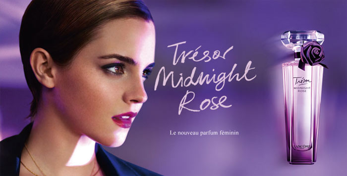 "Exceptionnel Emma Watson For Lancôme ""Trésor Midnight Rose"" Fragrance By Mario  UC11"