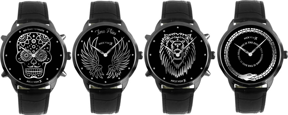 WTFSG-4 NVK Watch faces, Skull, Snake, Lion and Wings