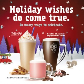 The Coffee Bean & Tea Leaf® festive selection of Christmas Beverages, Cakes & Treats