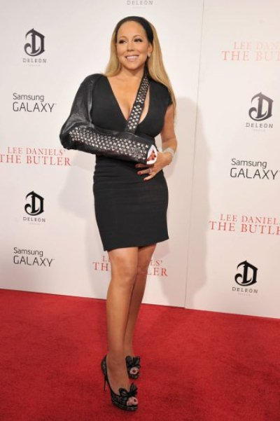 """NEW YORK, NY - AUGUST 05:  Actress Mariah Carey attends Lee Daniels' """"The Butler"""" New York premiere, hosted by TWC, DeLeon Tequila and Samsung Galaxy on August 5, 2013 in New York City.  (Photo by Kevin Mazur/Getty Images for Samsung)"""