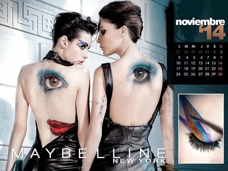 WTFSG-maybelline-calendar-2014-Nov-Charlotte-Kemp-Muhl-Erin-Wasson