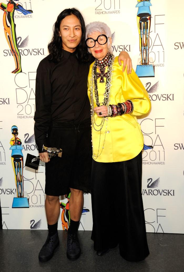 WTFSG-2011-CFDA-Awards-Alexander-Wang-Iris-Apfel