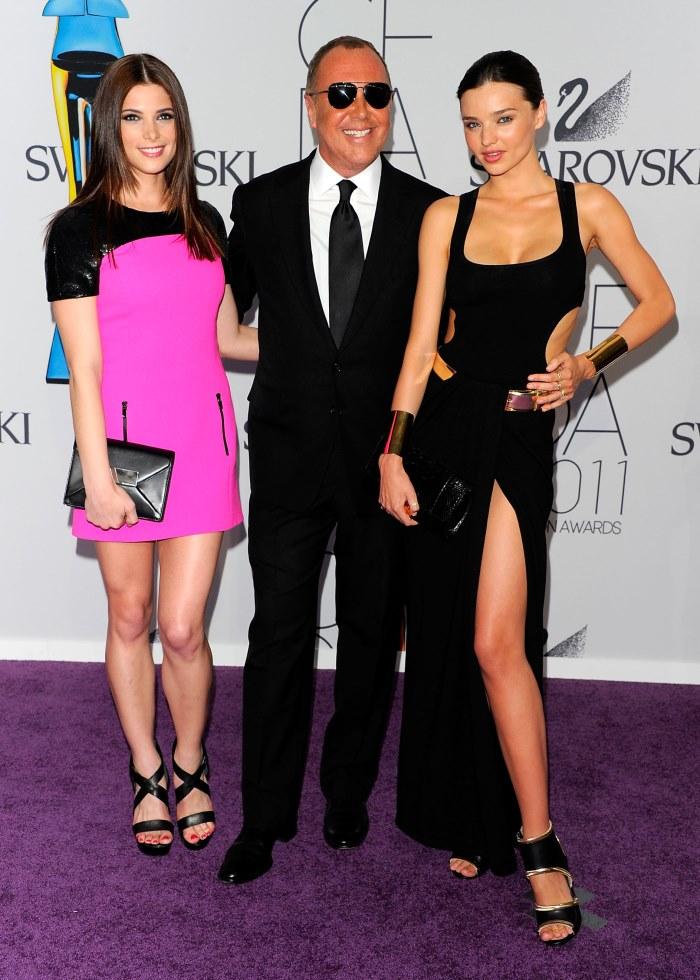 WTFSG-2011-CFDA-Awards-Ashley-Greene-Miranda-Kerr-both-Michael-Kors-designer