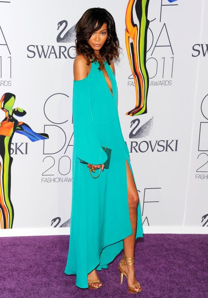 WTFSG-2011-CFDA-Awards-Chanel-Iman-BCBG-Max-Azria