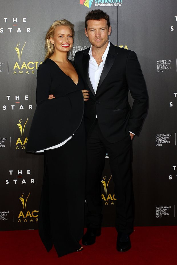 WTFSG-Lara-Bingle-Sam-Worthington-2014-AACTA-Awards-red-carpet