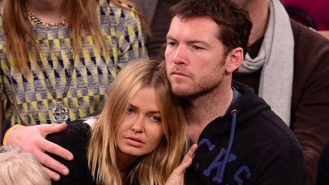 WTFSG-Lara-Bingle-Sam-Worthington-Oklahoma-City-Thunder-New-York-knicks