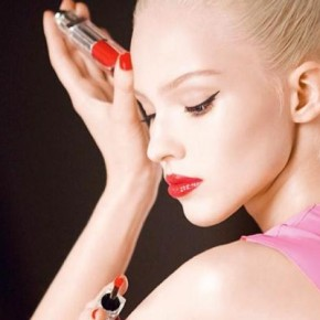 Sasha Luss Shines in Dior Addict Fluid Stick Ad Campaign
