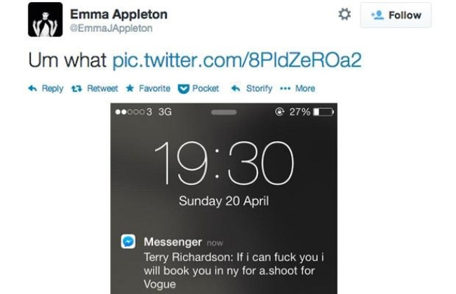 WTFSG-terry-richardson-tweet-emma-appleton