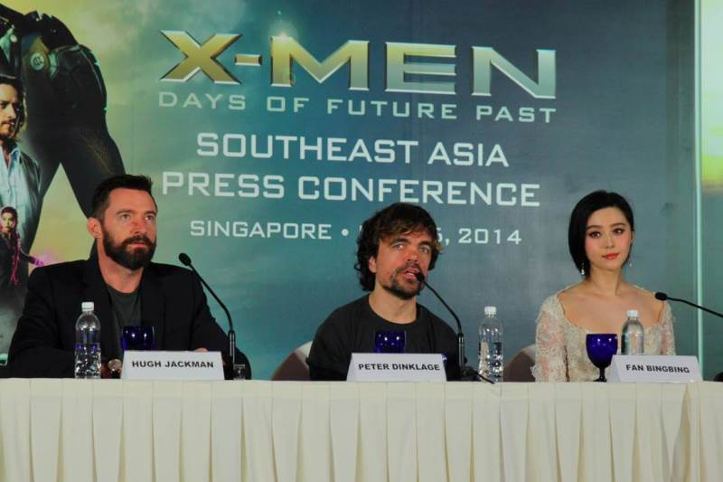 WTFSG-x-men-days-of-future-past-sea-premiere-singapore_Hugh-Jackman_Peter-Dinklage_Fan-Bing-Bing-stage