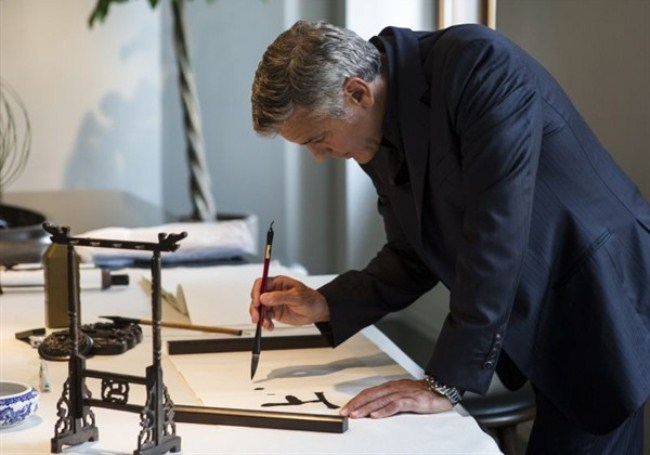 WTFSG-omega-exclusive-event-le-jardin-secret-in-shangahi-George-Clooney-calligraphy
