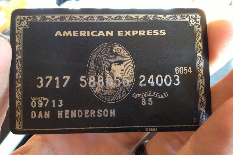 The American Express Centurion Black Card