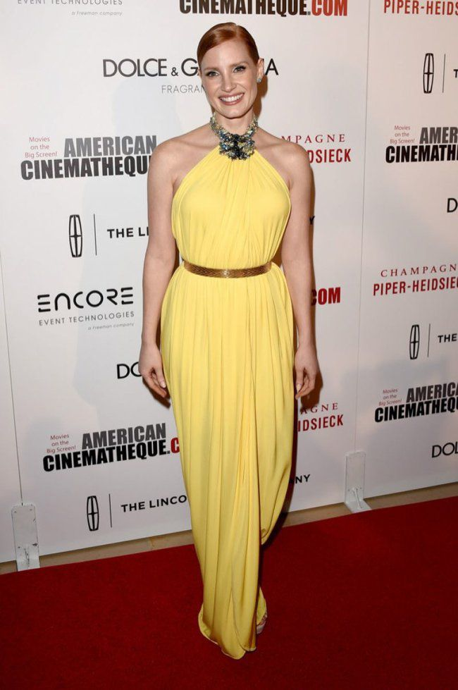WTFSG-american-cinematheque-awards-jessica-chastain-yellow-givenchy-gown