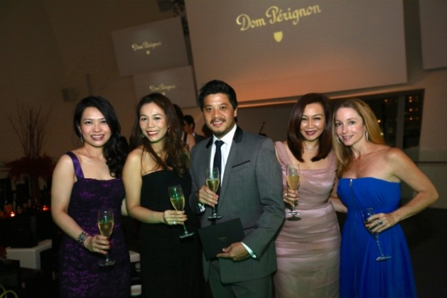 WTFSG_dom-perignon-society-inaugural-dinner-party_Ho-Ching-Lin_Ginny-Wiluan_Richard-Wiluan_Trina-Liang-Lin_Paige-Parker