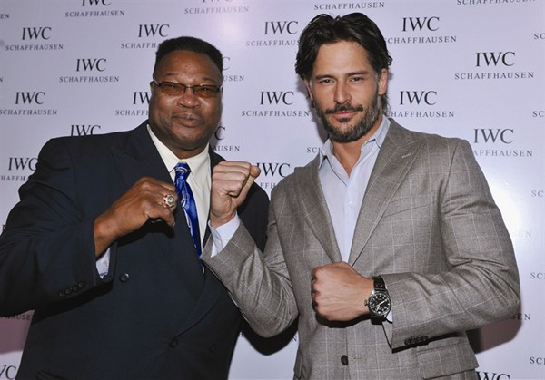 WTFSG_iwc-opens-nyc-flagship-with-muhammad-ali-tribute_Boxer-Larry-Holmes_Joe-Manganiello