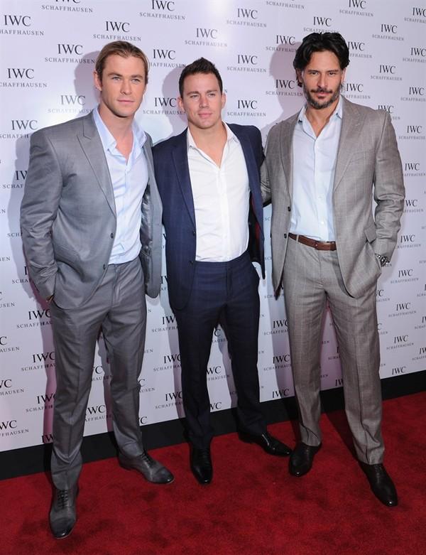 WTFSG_iwc-opens-nyc-flagship-with-muhammad-ali-tribute_Chris-Hemsworth_Channing-Tatum_Joe-Manganiello