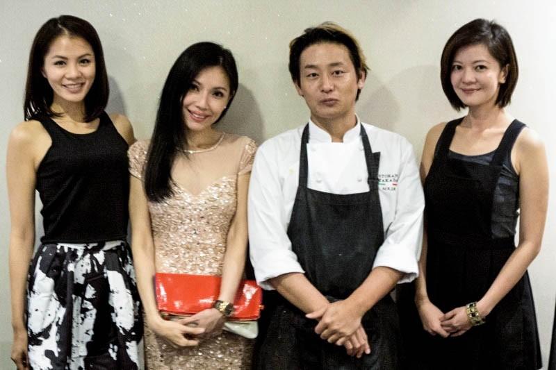 WTFSG_christmas-private-dining-ristorante-takada_Tracy-Lee_Sharon-Au_Masahiro-Takada_Michelle-Chong