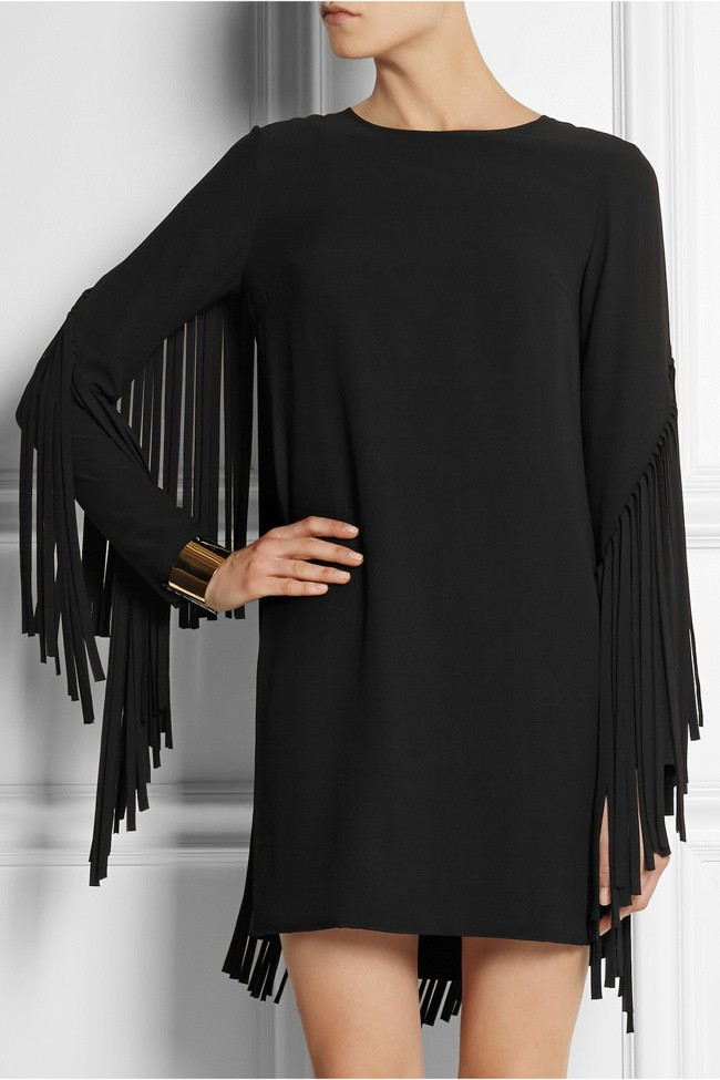 WTFSG_dkny-fringed-crepe-mini-dress