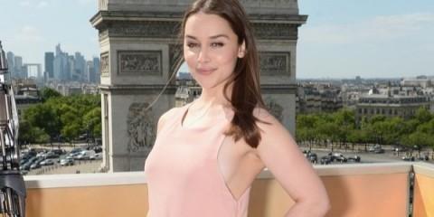 WTFSG_Emilia-Clarke-Pink-Calvin-Klein-Dress