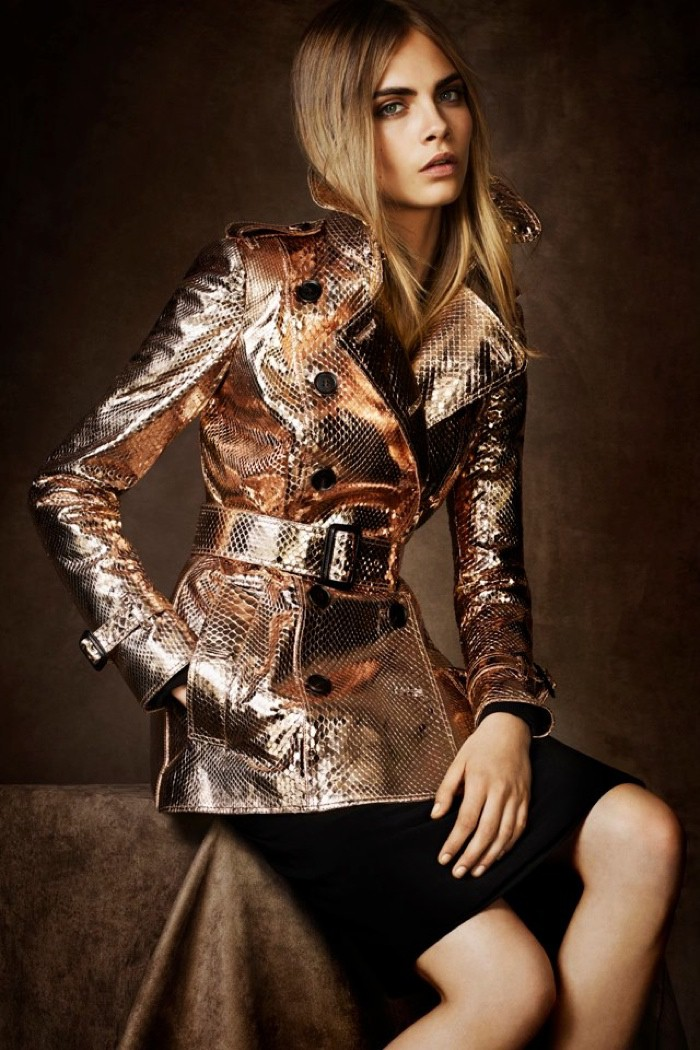 WTFSG_cara-delevingne-metallic-burberry-trench-coat