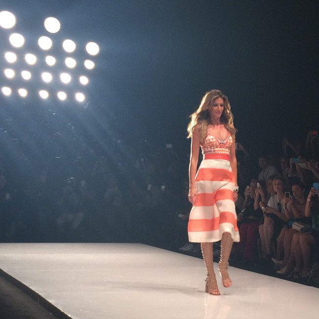 fe37f4611 Gisele chose the Colcci runway show as her last to celebrate her her birth  place–Brazil. (Photo: Hudson Rennan)