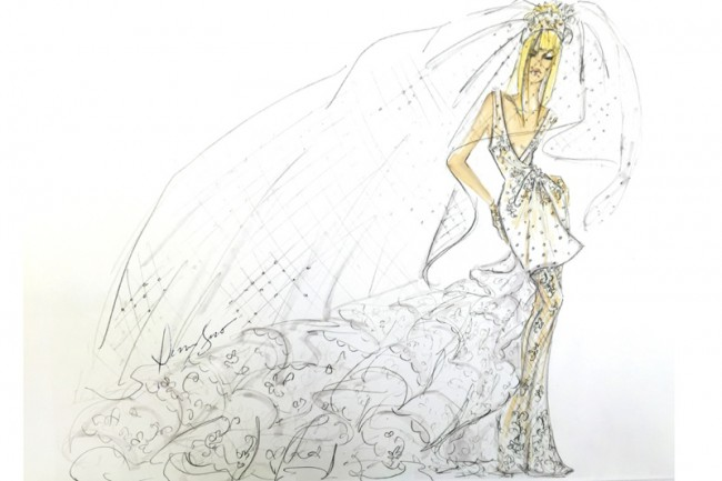 WTFSG_lady-gaga-wedding-dress-ideas-sketches_Dennis-Basso