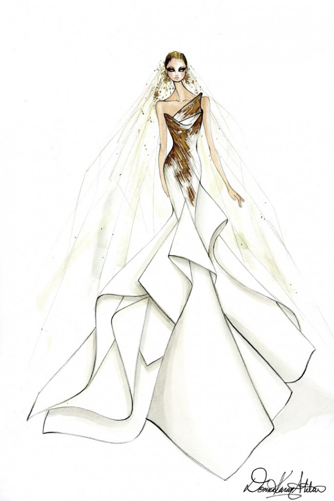 WTFSG_lady-gaga-wedding-dress-ideas-sketches_Donna-Karan