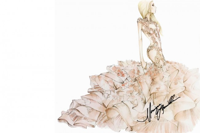 WTFSG_lady-gaga-wedding-dress-ideas-sketches_Monique-Lhuillier