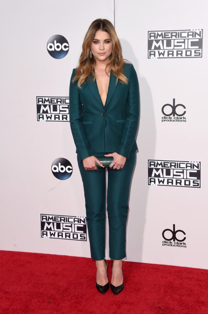 WTFSG_Ashley-Benson-2015-American-Music-Awards-Green-Pant-Suit
