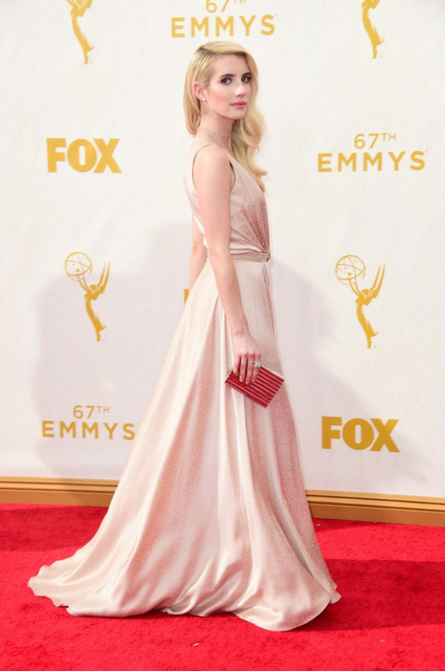 WTFSG_Emma-Roberts-Emmys-2015-Jenny-Packham-Dress