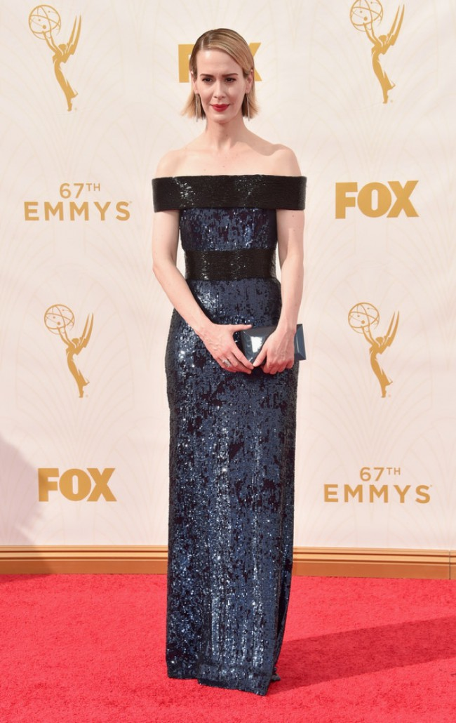 WTFSG_Sarah-Paulson-Emmys-2015-Prabal-Gurung-Dress