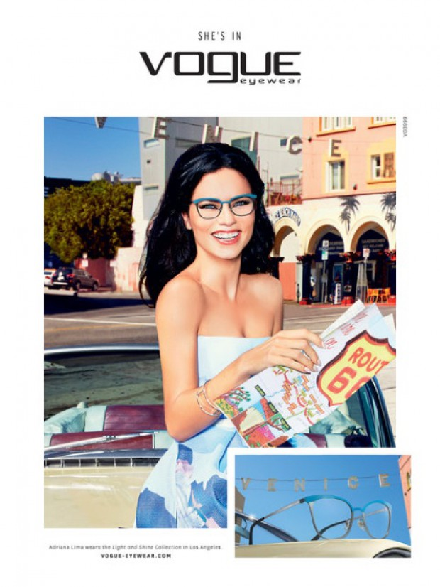 6b8307de24e Adriana Lima is a California Girl in Vogue Eyewear s Spring Ads ...