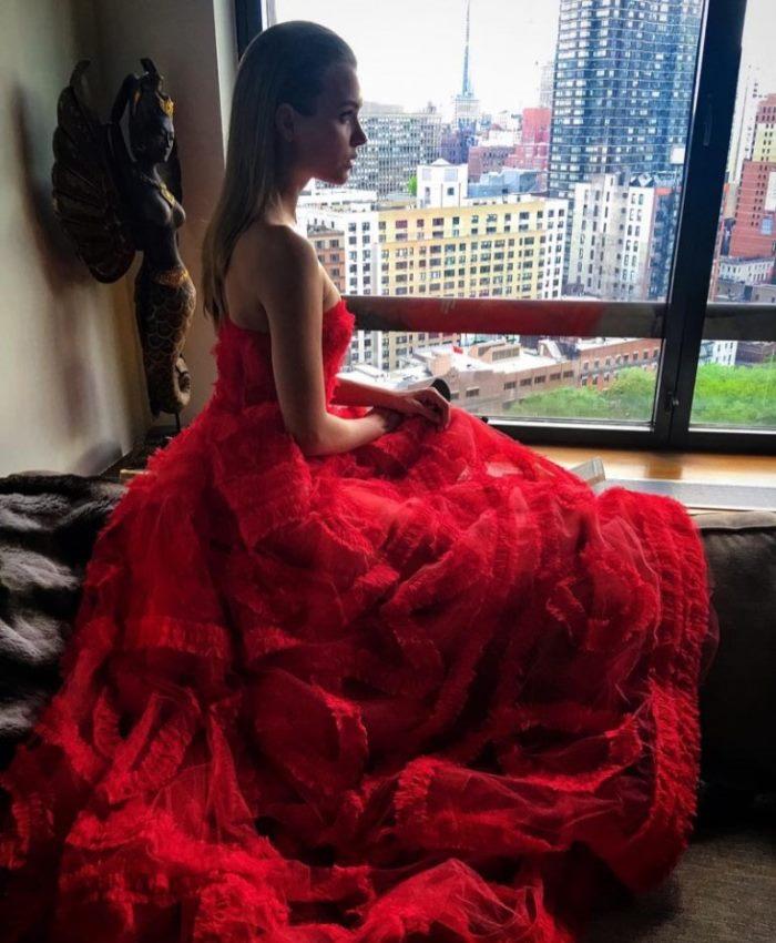 WTFSG_Josephine-Skriver-Sachin-Babi-Dress-CFDA-Instagram