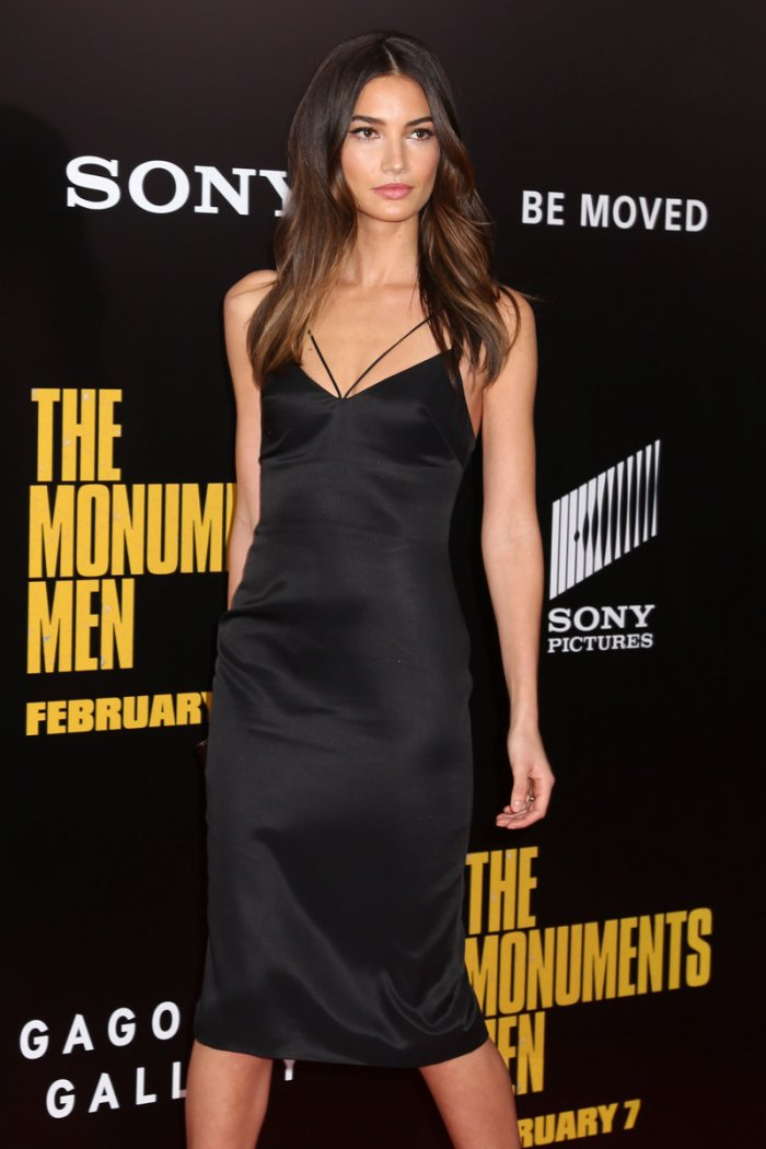WTFSG_Lily-Aldridge-Black-Slip-Dress