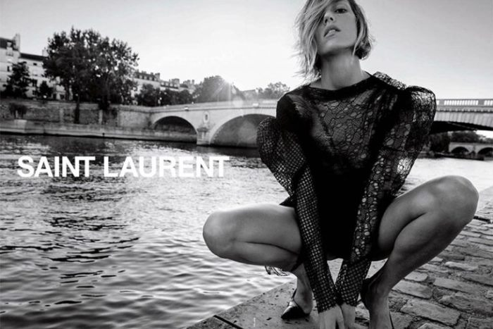 0a8cec15e14 Anja Rubik Shows Some Skin in Saint Laurent's First Campaign Under ...