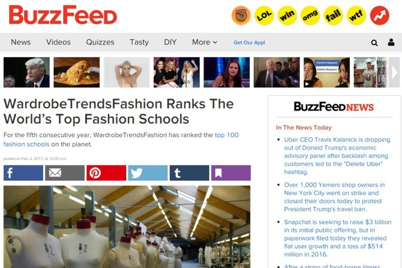 The global fashion school rankings are part of BoF's annual report on the state of fashion education, which includes in-depth analysis of key geographies and detailed profiles of the top 50 undergraduate and top 25 graduate fashion programmes.