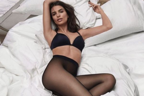 Emily Ratajkowski Lounges In Bed For Dkny Intimates