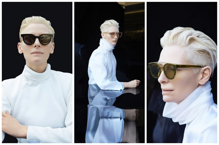033a5c1086c4 Just in  the Tilda Swinton x Gentle Monster sunglasses collaboration is  here. Actress and style ...