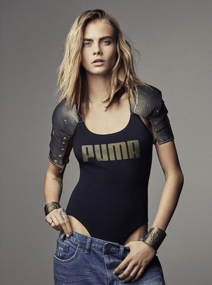 69d388719ec Cara Delevingne Poses with Cute Cub in PUMA Campaign - Wardrobe ...