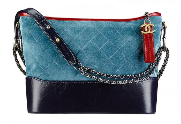66f1d3aa0863 Chanel Gabrielle Hobo Bag in Red, Light Blue and Navy $3,600. Take on color  blocking with a quilted bag featuring shiny calfskin leather.