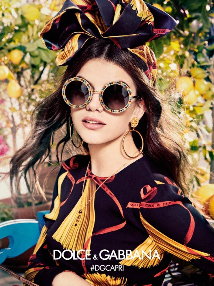 c1e34df11a9 Circular framed sunglasses appear in Dolce   Gabbana Eyewear s spring-summer  2017 campaign