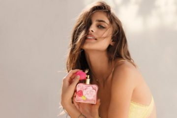0191b28f28fcc Taylor Hill Charms in Victoria's Secret Tease Flower Fragrance Campaign