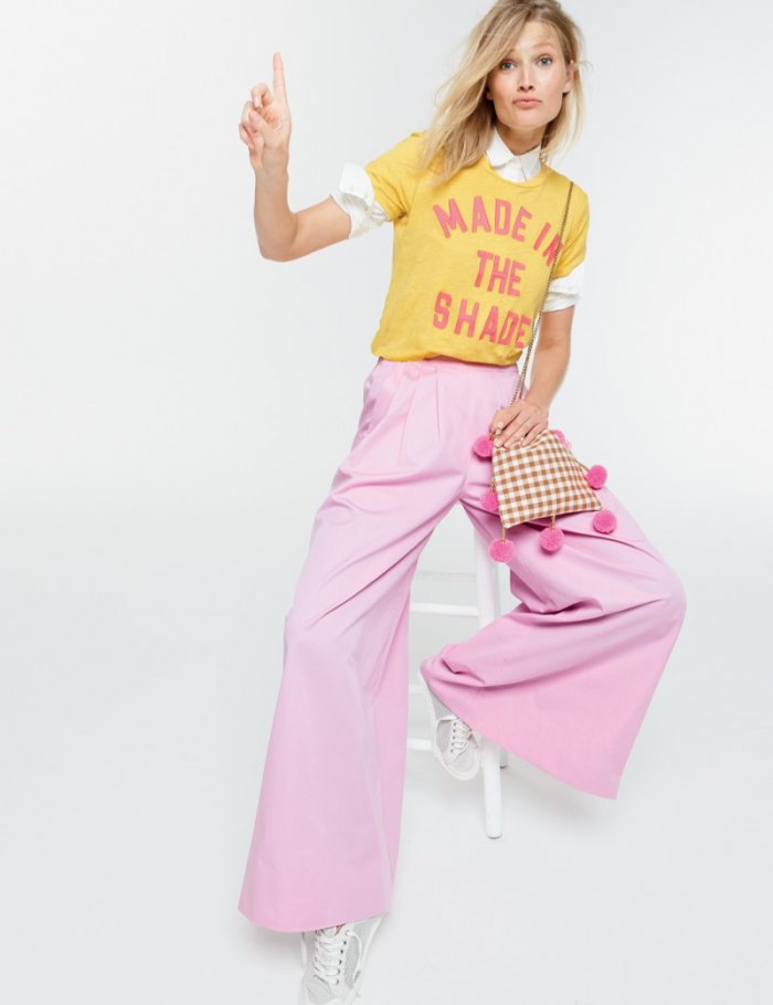 12a8ae47e Think Pink: Toni Garrn Embraces Cute Pastels for J. Crew - Wardrobe ...