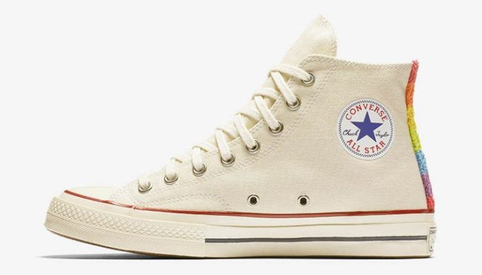 e2bc78d107ae Converse Chuck Taylor All Star  70 1st Pride Parade High Top  110. This  throwback sneaker features vintage details like rainbow hues and patches.