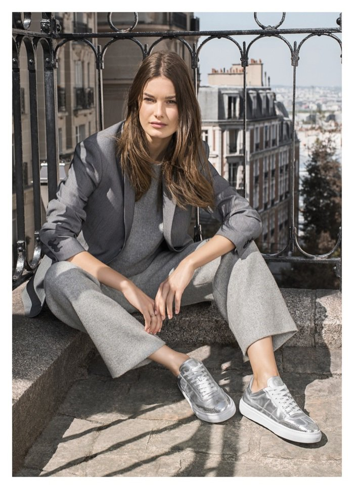 chaussures de sport 7a41a 6d931 Ophelie Guillermand Poses in Paris for Hogan's Fall 2017 ...