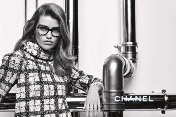 9cb077fc85 Luna Bijl Looks Chic in Chanel s Fall 2017 Eyewear Campaign